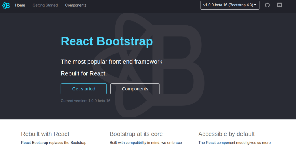 React Bootstrap UI components library