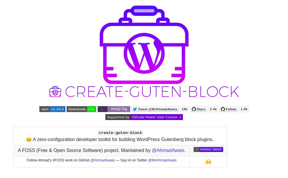 Create-Guten-Blocks toolkit for building Gutenberg blocks